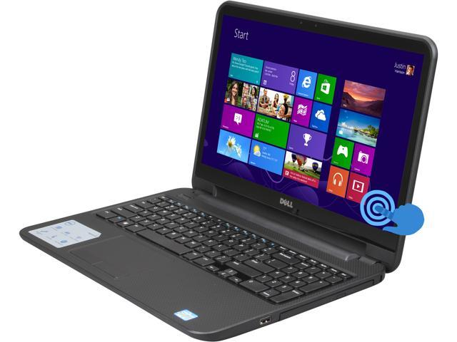 DELL Laptop Inspiron 15 (i15RVT-6143BLK) Intel Core i3 3217U (1.80 GHz) 4 GB Memory 500 GB HDD Intel HD Graphics 15.6