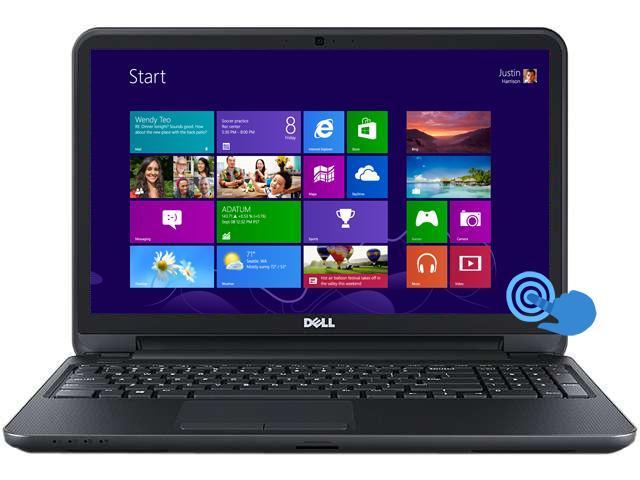 "DELL Laptop Inspiron 15 (i15RVT-13287BLK) Intel Core i5 4200U (1.60 GHz) 6 GB Memory 500 GB HDD Intel HD Graphics 4400 15.6"" ..."