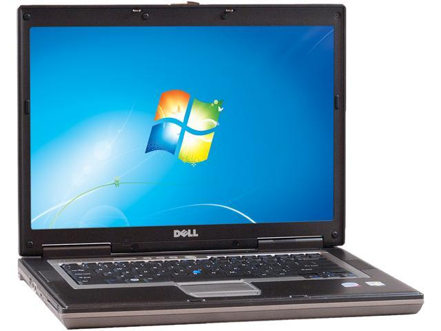 """DELL Laptop D820 Intel Core Duo 1.83 GHz 2 GB Memory 80 GB HDD Integrated Graphics 15.5"""" Windows 7 Home Premium"""