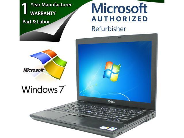 """Dell Latitude E6400 14"""" Notebook Intel Core 2 Duo 2.40Ghz, 4GB Memory, 120GB SSD, DVDROM, Windows 7 Professional 64-Bit"""
