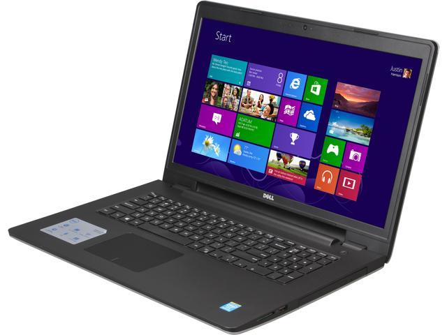 DELL Laptop Inspiron 17 i5748-1143sLV Intel Pentium 3558U (1.70 GHz) 4 GB Memory 500 GB HDD Intel HD Graphics 17.3