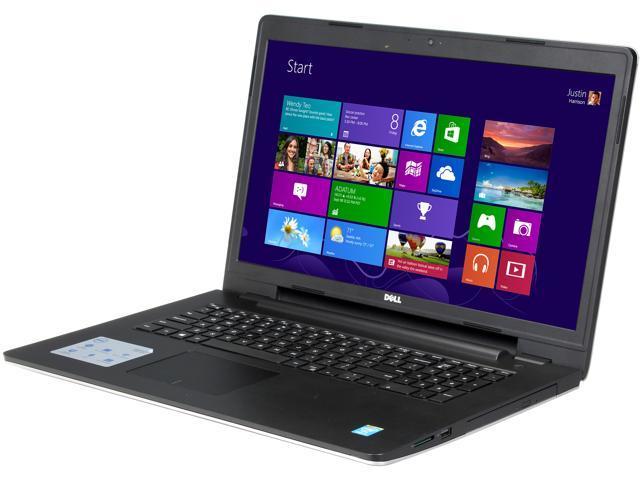 DELL Laptop Inspiron 17 i5748-2143sLV Intel Core i3 4010U (1.7 GHz) 4 GB Memory 500 GB HDD Intel HD Graphics 4400 17.3