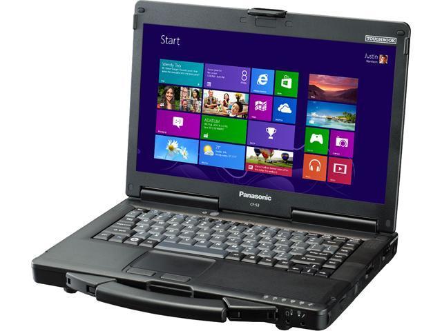 Panasonic Laptop Toughbook 53 (CF-53SALC8RM) Intel Core i5 3340M (2.7 GHz) 4 GB Memory 500 GB HDD Intel HD Graphics 4000 14.0