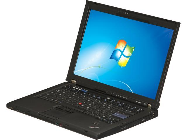 ThinkPad Laptop T Series T61 Intel Core 2 Duo 2.00 GHz 2 GB Memory 120 GB HDD VGA: Yes 14.1