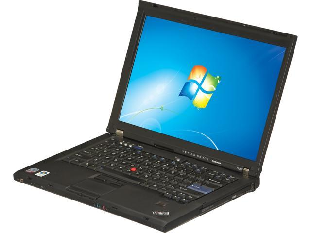 ThinkPad Laptop T Series T400 Intel Core 2 Duo 2.40 GHz 4 GB Memory 160 GB HDD 14.1