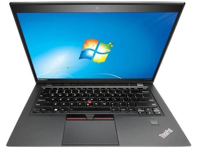 ThinkPad Laptop X Series X1 Carbon Intel Core i5 3337U (1.80 GHz) 4 GB Memory 128 GB SSD Intel HD Graphics 4000 14.0