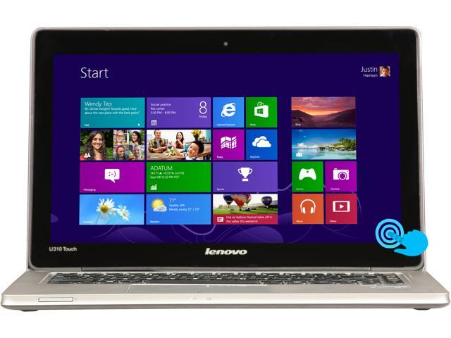 Lenovo IdeaPad U310 Intel Core i5 8GB 500GB HDD 24GB SSD 13.3