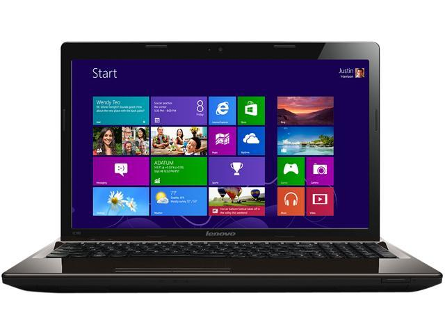 "Lenovo Laptop Essential G580 Intel Pentium B980 (2.4 GHz) 4 GB Memory 500 GB HDD Intel HD Graphics 15.6"" Windows 8 64-bit"