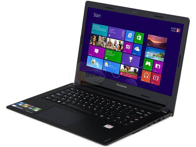 "Lenovo Laptop IdeaPad S405 AMD A6-Series A6-4455M (2.10 GHz) 4 GB Memory 500 GB HDD AMD Radeon HD 7500G 14.0"" Windows 8 64-bit"