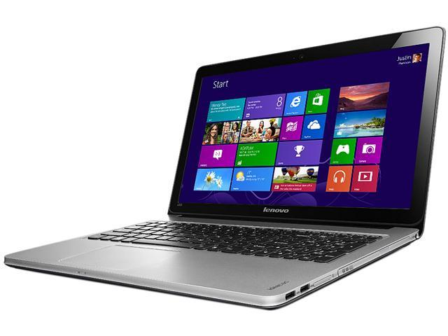 Lenovo IdeaPad U510 Intel Core i5 3317U (1.70GHz) 8GB RAM 750GB HDD + 24GB SSD DVDRW  15.6