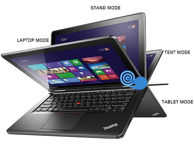 "ThinkPad Yoga 20CD0032US Intel Core i5 4 GB Memory 128 GB HDD 128 GB SSD 12.5"" Touchscreen Ultrabook Windows 8.1"