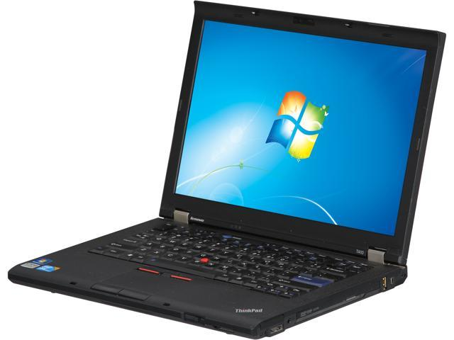 ThinkPad Laptop T Series T410 Intel Core i5 520M (2.40 GHz) 4 GB Memory 320 GB HDD Intel HD Graphics 14.0