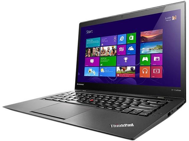 """ThinkPad X1 Carbon20A70037US Intel Core i7 8GB Memory 256GB SSD 14"""" Ultrabook Windows 8.1 Pro 64-Bit"""