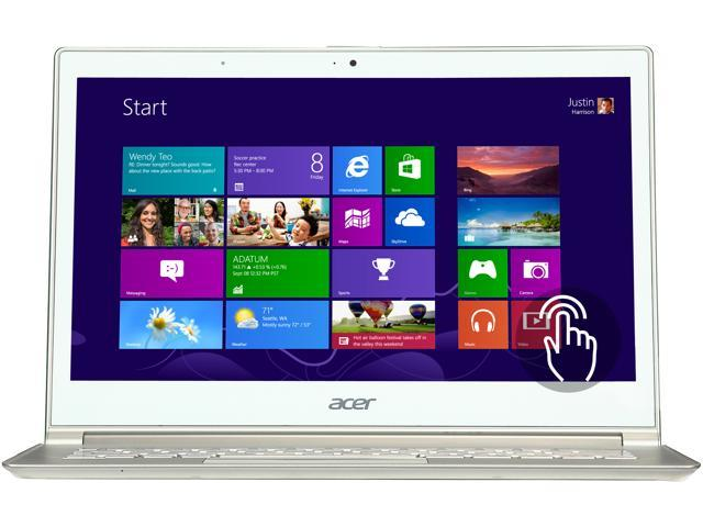 "Acer Aspire S S7-391-6468 Intel Core i5 4 GB Memory 128 GB HDD 128 GB SSD 13.3"" Touchscreen Ultrabook Windows 8 64-Bit"