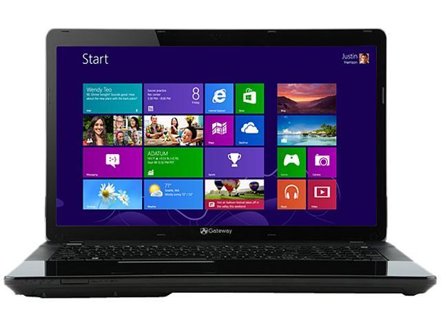 Gateway Laptop NE52213u E-Series E1-2500 (1.40 GHz) 4 GB Memory 500 GB HDD AMD Radeon HD 8240 15.6