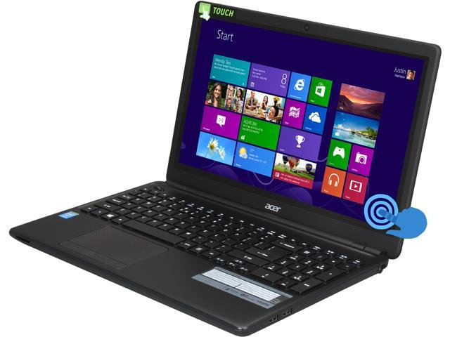 "Acer Laptop E1-572P-6403 Intel Core i5 4200U (1.60 GHz) 6 GB Memory 750 GB HDD Intel HD Graphics 4400 15.6"" Touchscreen Windows ..."