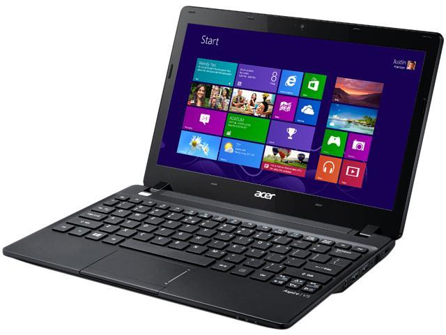 Acer Laptop Aspire V5-123-3466 (NX.MFQAA.005) AMD E1-Series E1-2100 (1.00 GHz) 4 GB Memory 500 GB HDD AMD Radeon HD 8210 ...