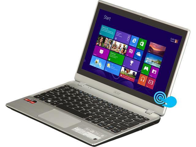 Acer Laptop Aspire V5-122P-0857 AMD A4-Series A4-1250 (1.00 GHz) 4 GB Memory 500 GB HDD AMD Radeon HD 8210 11.6