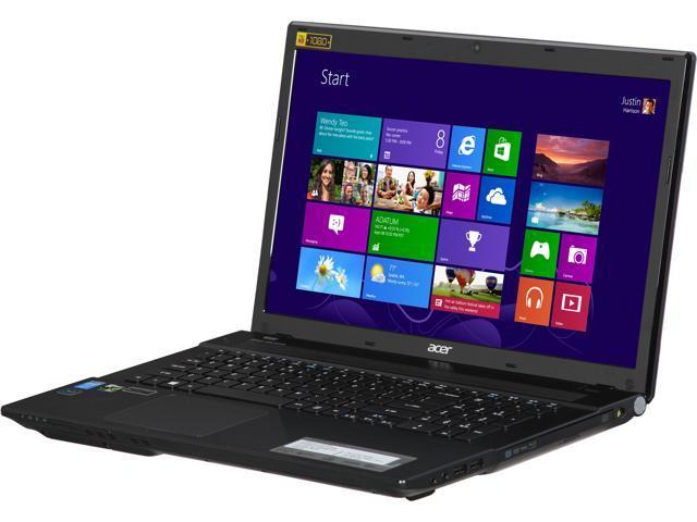 Acer Aspire V3-772G-7616 Gaming Laptop Intel Core i7 4712MQ (2.30GHz) 8GB Memory 256GB SSD NVIDIA GeForce GTX 850M 2GB GDDR5 17.3
