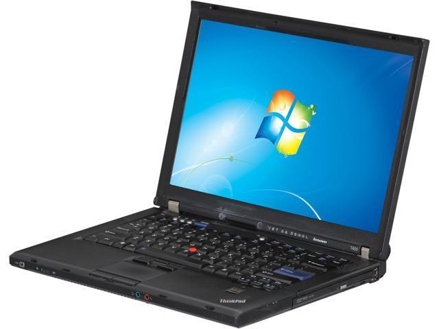 ThinkPad Laptop T Series T400 Intel Core 2 Duo 2.50 GHz 2 GB Memory 160 GB HDD 14.0