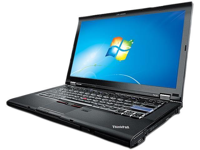 "ThinkPad Laptop T Series T410 Intel Core i5 2.40 GHz 4 GB Memory 250 GB HDD Intel HD Graphics 14.1"" Windows 7 Home Premium"