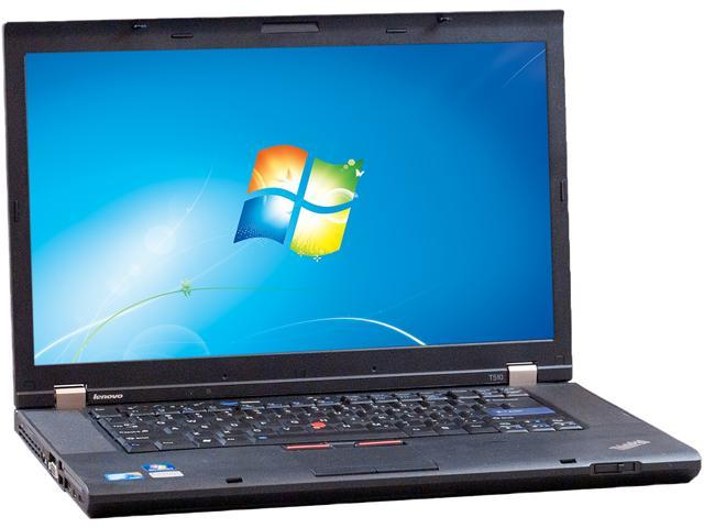 "Lenovo Laptop T510 Intel Core i5 2.53 GHz 4 GB Memory 250 GB HDD 15.5"" Windows 7 Professional 64-Bit"