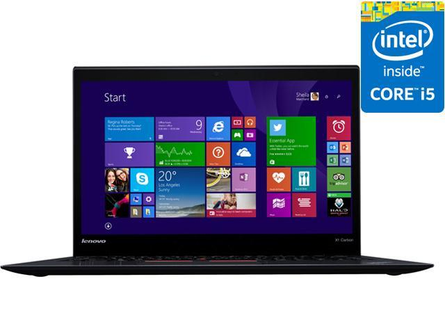 "ThinkPad X1 Carbon 20BS0032US Ultrabook Intel Core i5 5300U (2.30 GHz) 256 GB SSD Intel HD Graphics 5500 Shared memory 14"" FHD 1920 x 1080 Windows 7 Professional 64-Bit (Windows 8.1 Downgrade)"