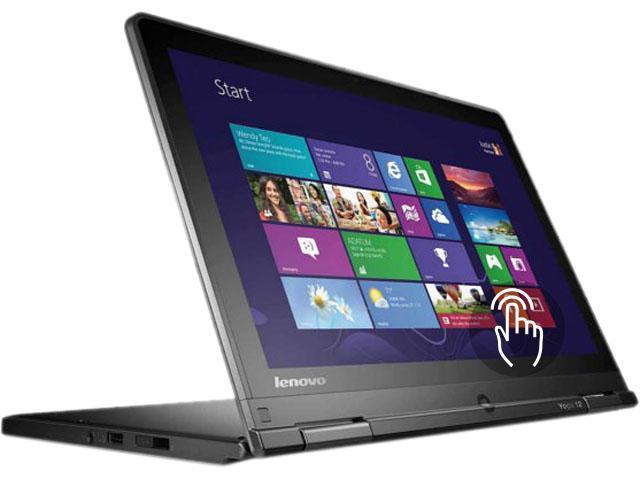 "ThinkPad Yoga 12 20DL0037US Convertible Laptop Intel Core i5 5200U (2.20 GHz) 500 GB HDD 16 GB SSD Intel HD Graphics 5500 Shared memory 12.5"" Touchscreen Windows 8.1 Pro 64-Bit"