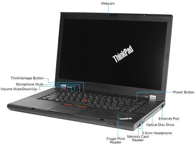 Lenovo Laptop T530 Intel Core i5 3210M (2.50 GHz) 6 GB Memory 500 GB HDD 15.6