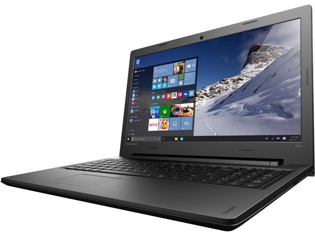 Lenovo Laptop IdeaPad 100 80QQ00JGUS Intel Core i5 5200U (2.20 GHz) 4 GB Memory 1 TB HDD Intel HD Graphics 5500 15.6