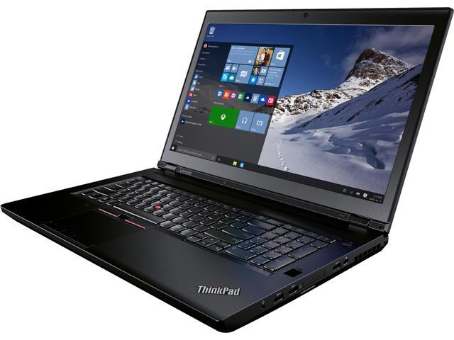 Lenovo Laptop ThinkPad P70 (20ER002KCA) Intel Core i7 6700HQ (2.60 GHz) 16 GB DDR4 Memory 500 GB HDD NVIDIA Quadro M600M 17.3