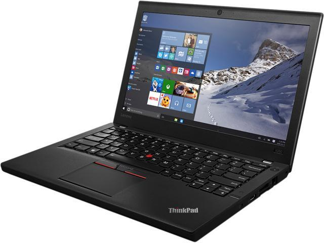 Lenovo Laptop ThinkPad X260 (20F6006LUS) Intel Core i7 6th Gen 6600U (2.60 GHz) 16 GB Memory 256 GB SSD Intel HD Graphics 520 12.5