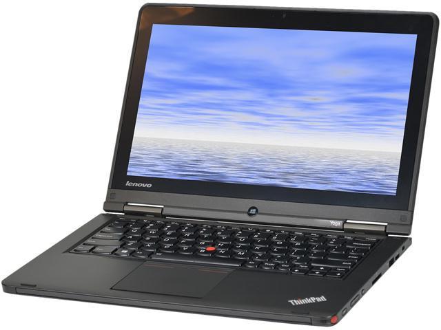 Lenovo Laptop Yoga Intel Core i5 4300U (1.90 GHz) 8 GB Memory 180 GB SSD Intel HD Graphics 4400 12.5