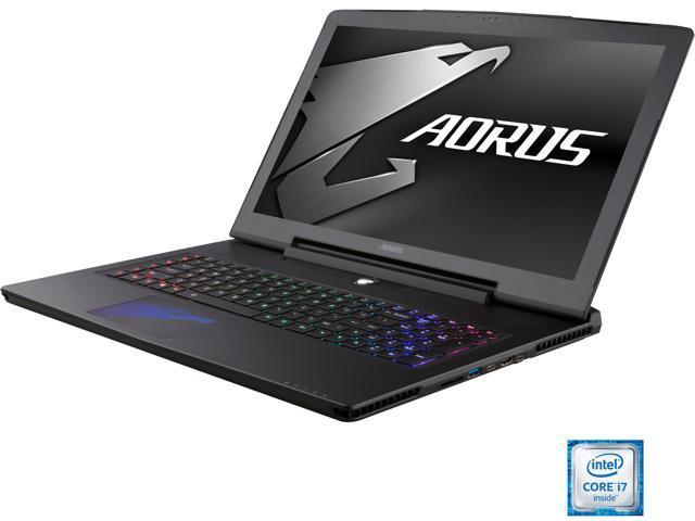 Aorus X7 v6-PC3D Gaming Laptop Intel Core i7 6820HK (2.70 GHz) 16 GB Memory 1 TB HDD 256 GB SSD NVIDIA GeForce GTX 1070 8 GB GDDR5 17.3