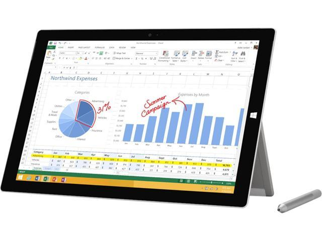 "Refurbished: Microsoft Surface Pro 3 Intel Core i5 4 GB Memory 128 GB SSD 12.0"" Touchscreen Grade A Tablet Windows 10 Pro"