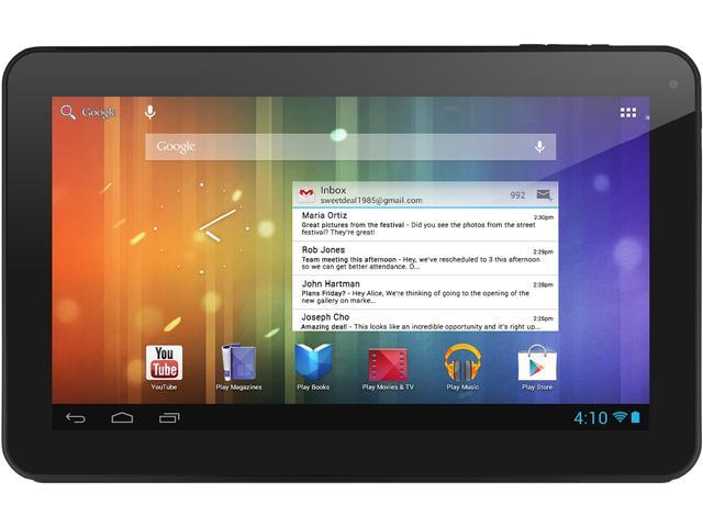 """Ematic EGS102BL 4 GB 10.0"""" Tablet"""