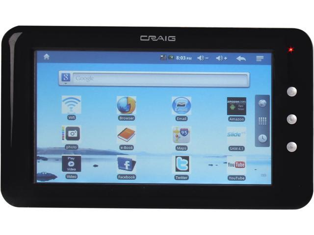 "Craig Electronics CMP738B 4 GB Built-in Flash Memory 7.0"" Tablet"