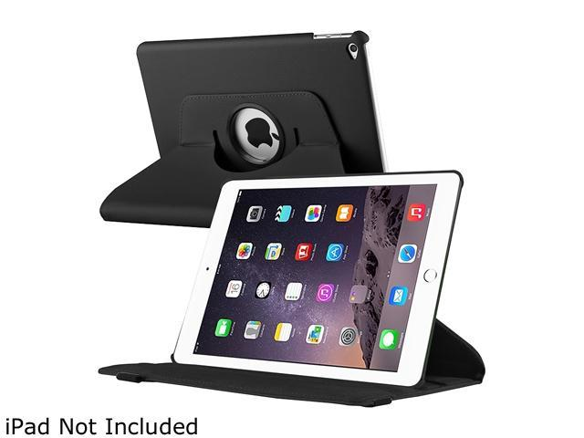 Insten 360-degree Swivel Leather Case for Apple iPad Air 2, Black 2040614