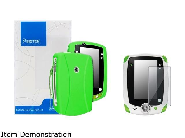 Insten Green Skin Gel Rubber Shell Case with Clear Protector For LeapFrog LeapPad 2 975194