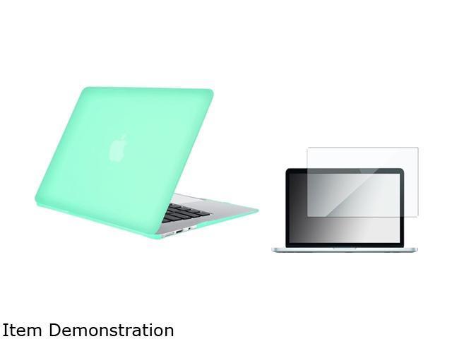 Insten Ocean Green Rubberized Hard Case + Screen Protector For Apple MacBook Air 13-inch
