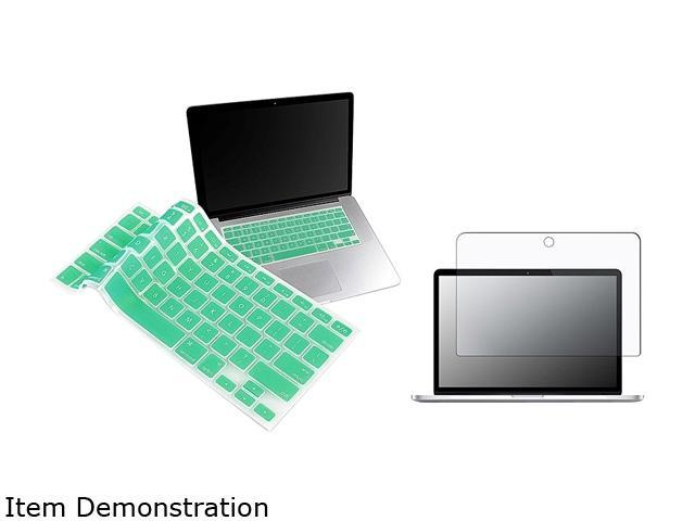 Insten Ocean Green Silicone Keyboard Cover Skin + Matte Screen Protector For Apple MacBook Pro 13-inch