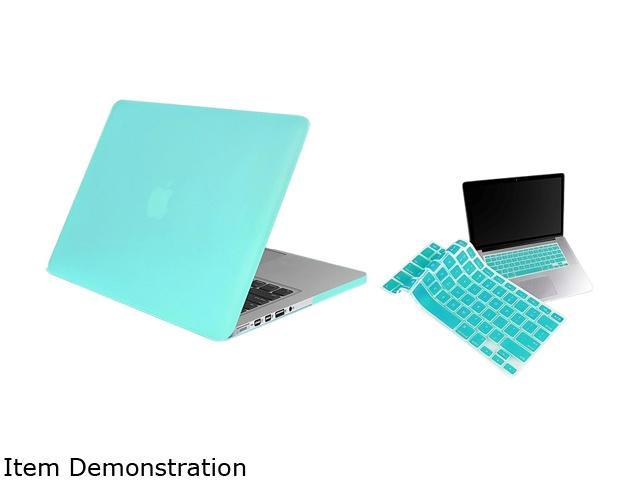 Insten Turquoise Rubberized Hard Case + Silicone Keyboard Cover Skin For Apple Macbook Pro with Retina Display 13-inch