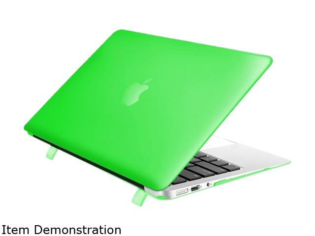 Insten Green Hard Rubber Clip On Back Plastic Shell Case Cover For Apple Macbook Air 13-inch