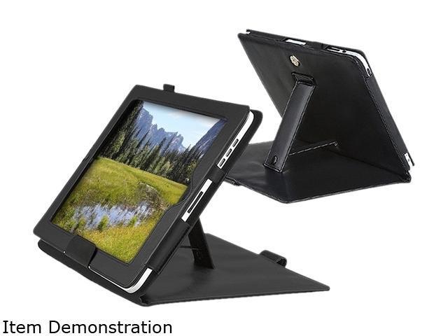 Insten 1901573 Folio Stand Leather Case for Apple iPad , Black