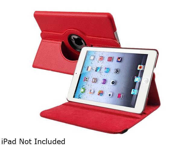 Insten 1901650 360 Rotating Swivel Folio Stand Leather Case for Apple iPad Mini 1/ Apple iPad Mini with Retina Display (iPad Mini 2)/ Apple iPad Mini 3, Red