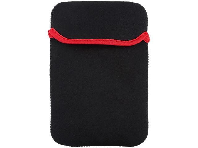 Insten 1901812 Nylon Sleeve Case for 7-inch Tablet, Black/Red