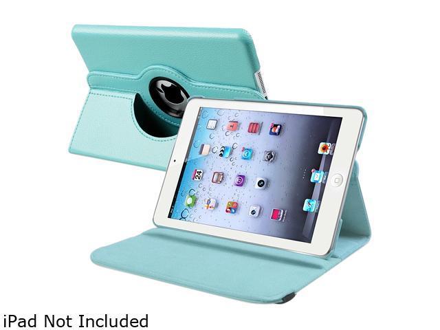 Insten 1901653 360 Rotating Swivel Folio Stand Leather Case for Apple iPad Mini 1/ Apple iPad Mini with Retina Display (iPad Mini 2)/ Apple iPad Mini 3, Light Blue