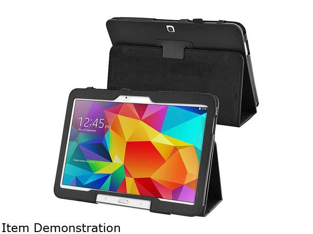 Insten 1901990 Folio Stand Leather Case for Samsung Galaxy Tab 4 10.1 T530, Black