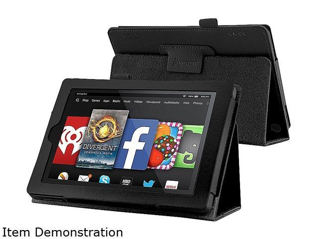 Insten Black Folio Stand Leather Case Cover for Amazon Kindle Fire HD 7