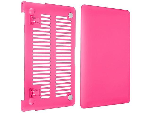INSTEN Hot Pink Snap-in Rubber Case compatible with Apple MacBook Air 11